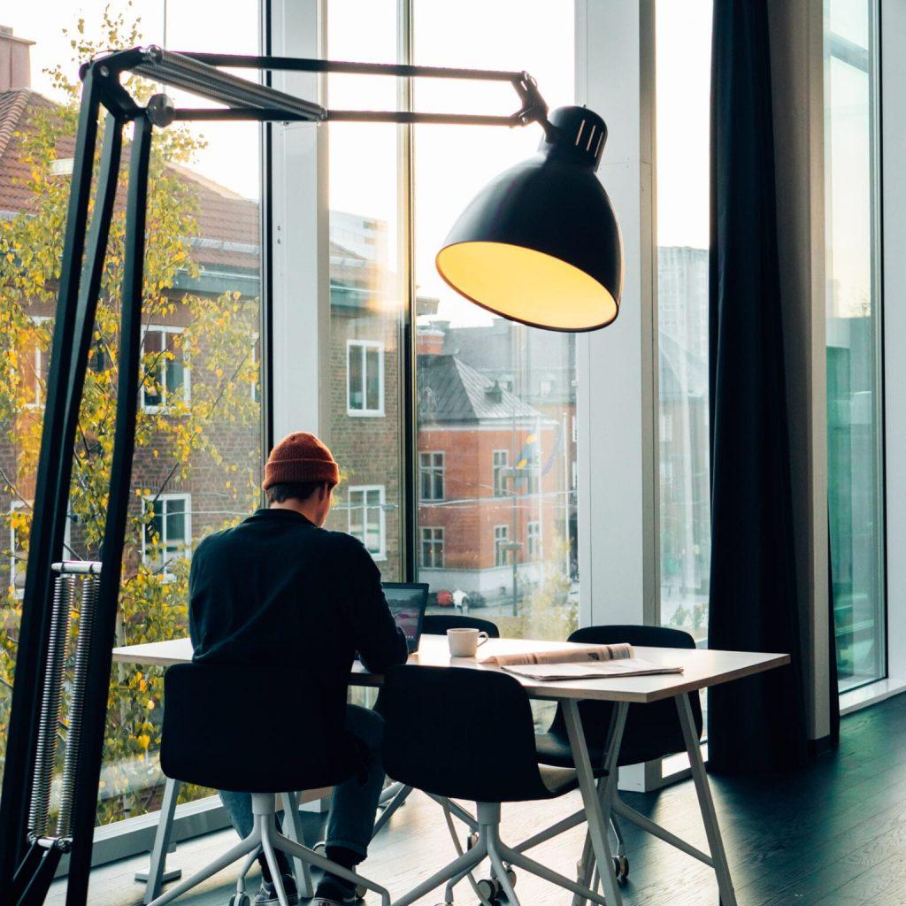 På City arbetar du i ljusa, öppna lokaler mitt i Umeå centrum