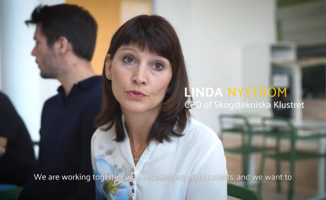 Linda från Skogstekniska klustret i Umeå